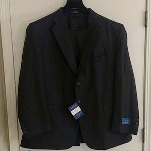 NWT Men's Gray Pinstripe Suit